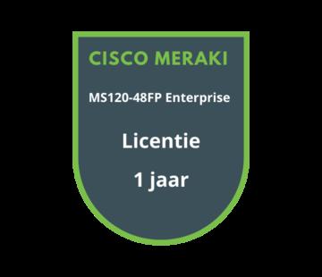 Cisco Meraki Cisco Meraki MS120-48FP Enterprise Licentie 1 jaar