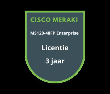 Cisco Meraki Cisco Meraki MS120-48FP Enterprise Licentie 3 jaar
