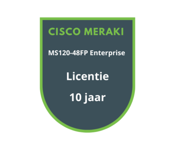 Cisco Meraki Cisco Meraki MS120-48FP Enterprise Licentie 10 jaar