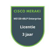 Cisco Meraki Cisco Meraki MS120-48LP Enterprise Licentie 3 jaar