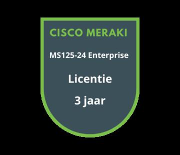 Cisco Meraki Cisco Meraki MS125-24 Enterprise Licentie 3 jaar