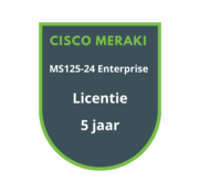 Cisco Meraki Cisco Meraki MS125-24 Enterprise Licentie 5 jaar