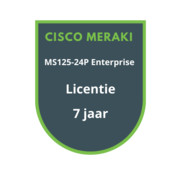 Cisco Meraki Cisco Meraki MS125-24P Enterprise Licentie 7 jaar