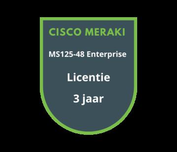 Cisco Meraki Cisco Meraki MS125-48 Enterprise Licentie 3 jaar