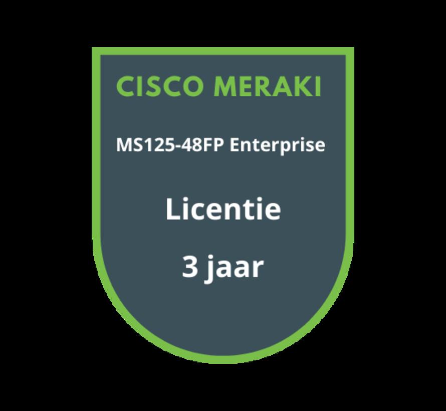 Cisco Meraki MS125-48FP Enterprise Licentie 3 jaar