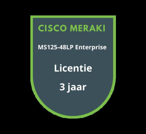 Cisco Meraki Cisco Meraki MS125-48LP Enterprise Licentie 3 jaar