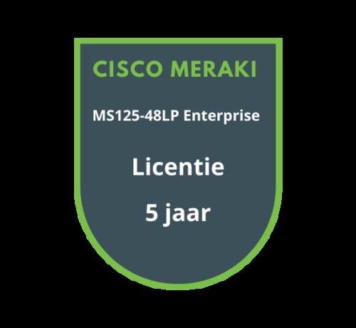 Cisco Meraki Cisco Meraki MS125-48LP Enterprise Licentie 5 jaar