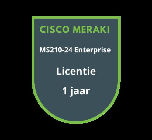 Cisco Meraki Cisco Meraki MS210-24 Enterprise Licentie 1 jaar
