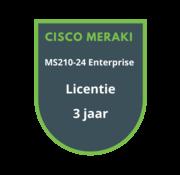 Cisco Meraki Cisco Meraki MS210-24 Enterprise Licentie 3 jaar