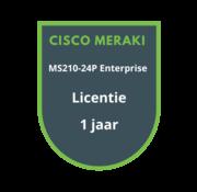Cisco Meraki Cisco Meraki MS210-24P Enterprise Licentie 1 jaar