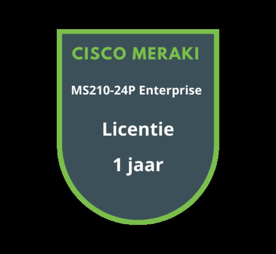 Cisco Meraki MS210-24P Enterprise Licentie 1 jaar