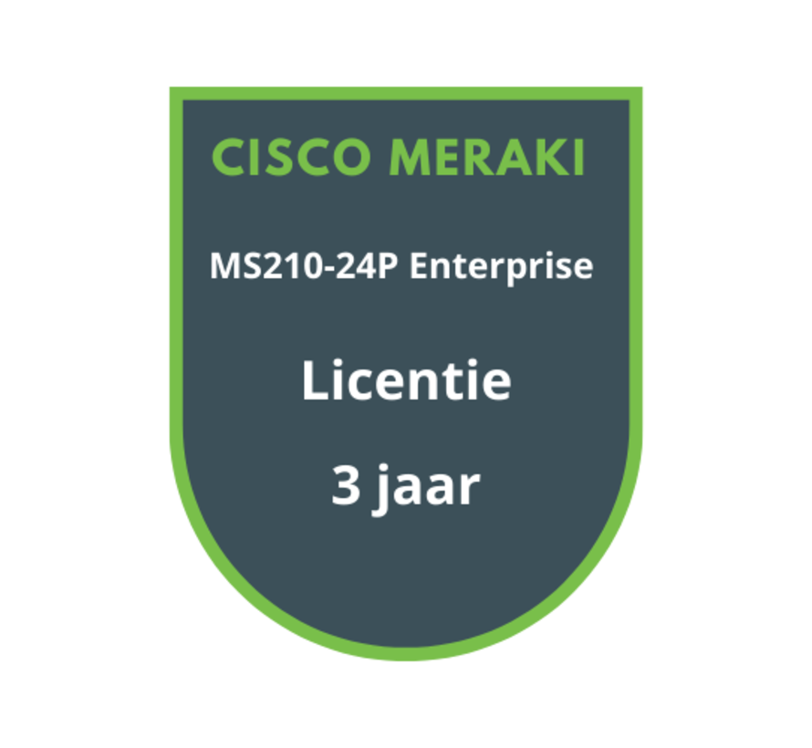 Cisco Meraki MS210-24P Enterprise Licentie 3 jaar