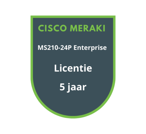 Cisco Meraki Cisco Meraki MS210-24P Enterprise Licentie 5 jaar