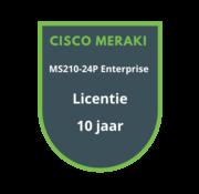 Cisco Meraki Cisco Meraki MS210-24P Enterprise Licentie 10 jaar