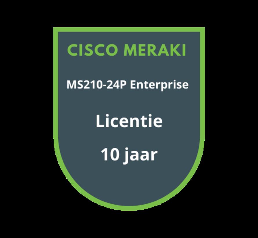 Cisco Meraki MS210-24P Enterprise Licentie 10 jaar
