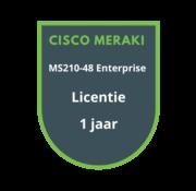 Cisco Meraki Cisco Meraki MS210-48 Enterprise Licentie 1 jaar