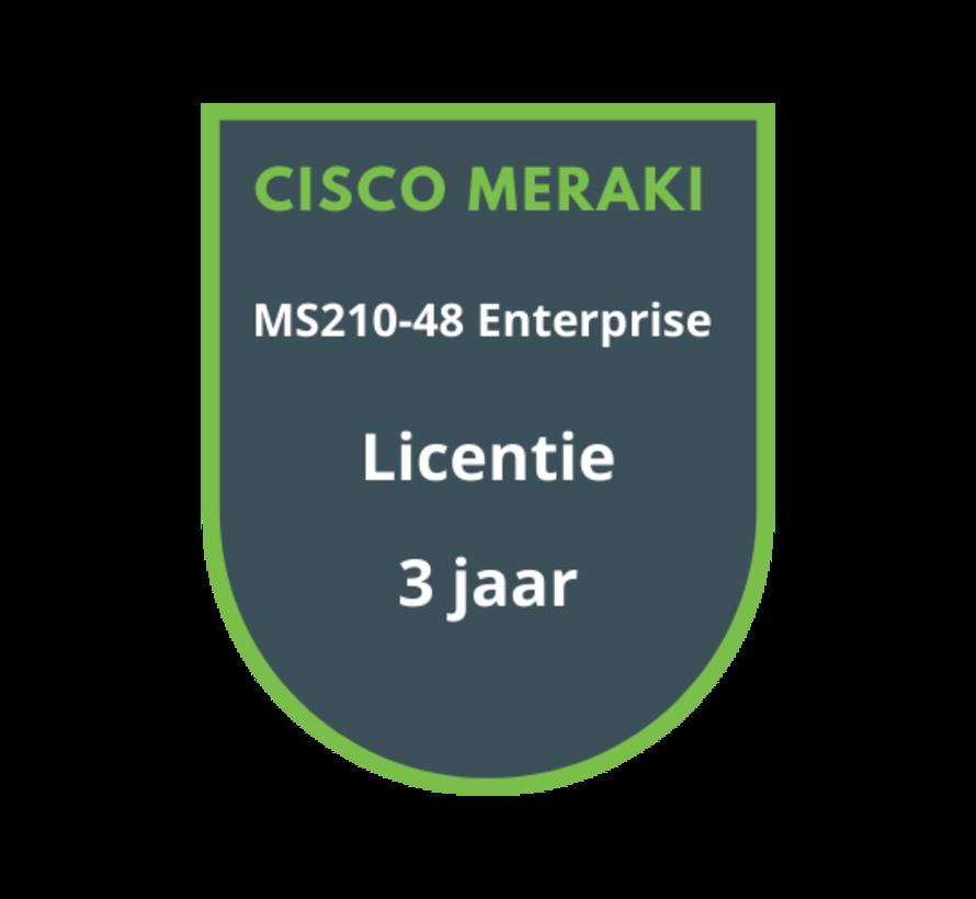 Cisco Meraki MS210-48 Enterprise Licentie 3 jaar