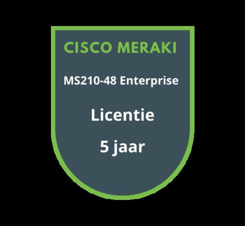 Cisco Meraki Cisco Meraki MS210-48 Enterprise Licentie 5 jaar