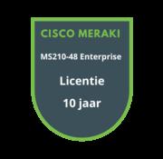 Cisco Meraki Cisco Meraki MS210-48 Enterprise Licentie 10 jaar