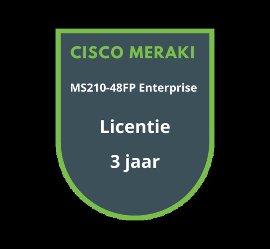 Cisco Meraki MS210-48FP Enterprise Licentie 3 jaar