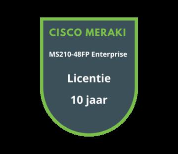 Cisco Meraki Cisco Meraki MS210-48FP Enterprise Licentie 10 jaar