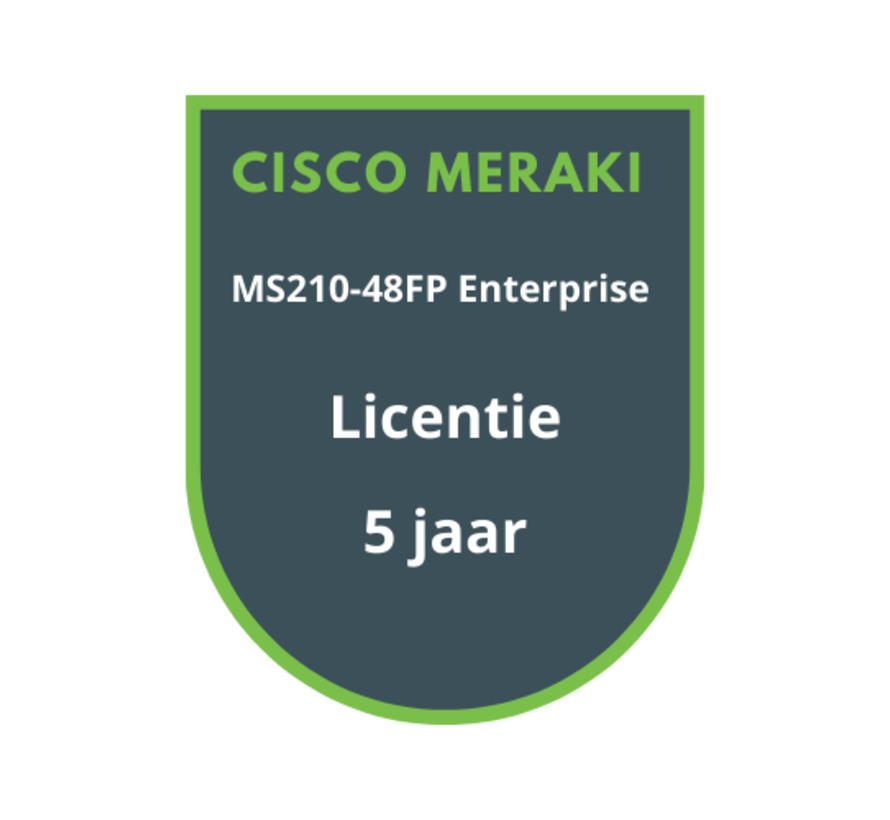 Cisco Meraki MS210-48FP Enterprise Licentie 5 jaar