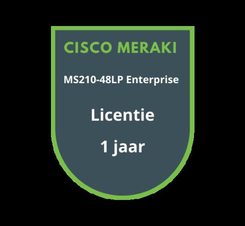 Cisco Meraki Cisco Meraki MS210-48LP Enterprise Licentie 1 jaar