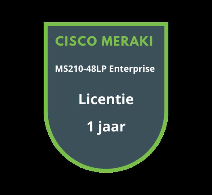 Cisco Meraki MS210-48LP Enterprise Licentie 1 jaar