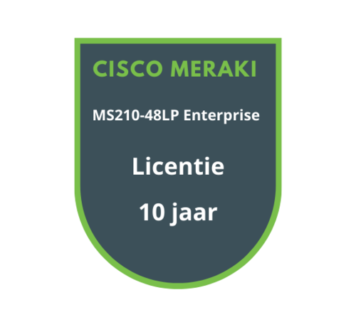 Cisco Meraki Cisco Meraki MS210-48LP Enterprise Licentie 10 jaar