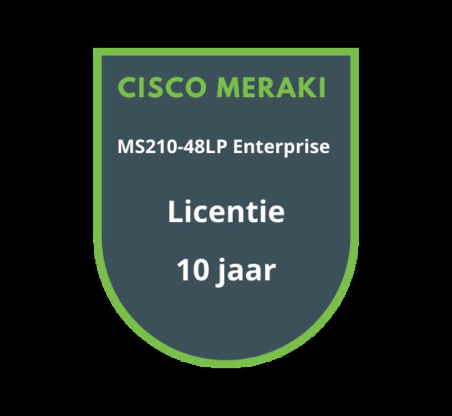 Cisco Meraki MS210-48LP Enterprise Licentie 10 jaar