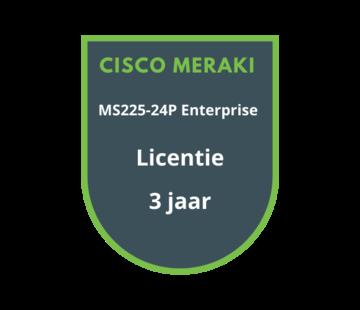 Cisco Meraki Cisco Meraki MS225-24P Enterprise Licentie 3 jaar