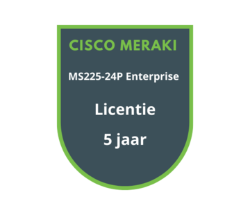 Cisco Meraki Cisco Meraki MS225-24P Enterprise Licentie 5 jaar