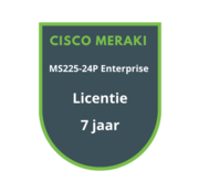 Cisco Meraki Cisco Meraki MS225-24P Enterprise Licentie 7 jaar