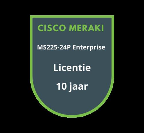 Cisco Meraki Cisco Meraki MS225-24P Enterprise Licentie 10 jaar