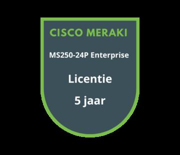 Cisco Meraki Cisco Meraki MS250-24P Enterprise Licentie 5 jaar