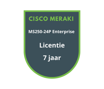 Cisco Meraki Cisco Meraki MS250-24P Enterprise Licentie 7 jaar