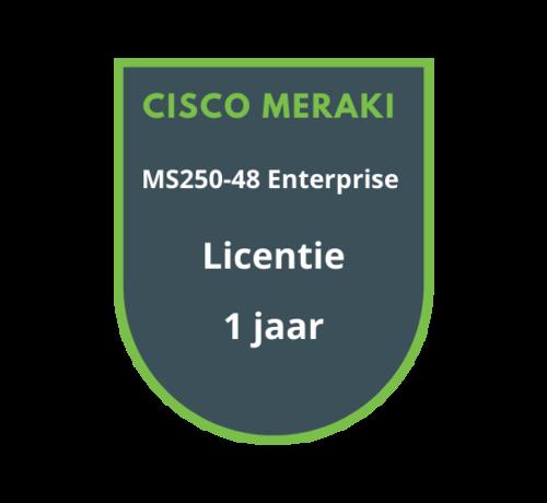 Cisco Meraki Cisco Meraki MS250-48 Enterprise Licentie 1 jaar