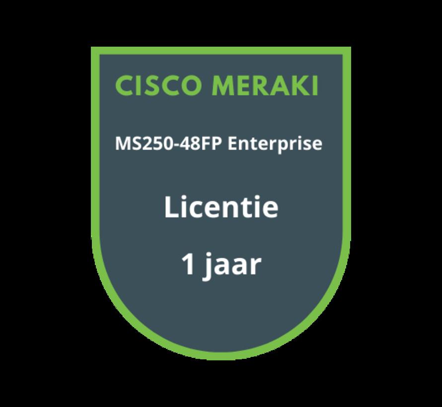 Cisco Meraki MS250-48FP Enterprise Licentie 1 jaar
