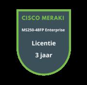 Cisco Meraki Cisco Meraki MS250-48FP Enterprise Licentie 3 jaar