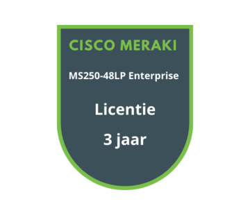 Cisco Meraki Cisco Meraki MS250-48LP Enterprise Licentie 3 jaar