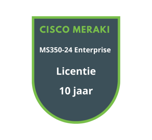 Cisco Meraki Cisco Meraki MS350-24 Enterprise Licentie 10 jaar