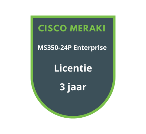 Cisco Meraki Cisco Meraki MS350-24P Enterprise Licentie 3 jaar