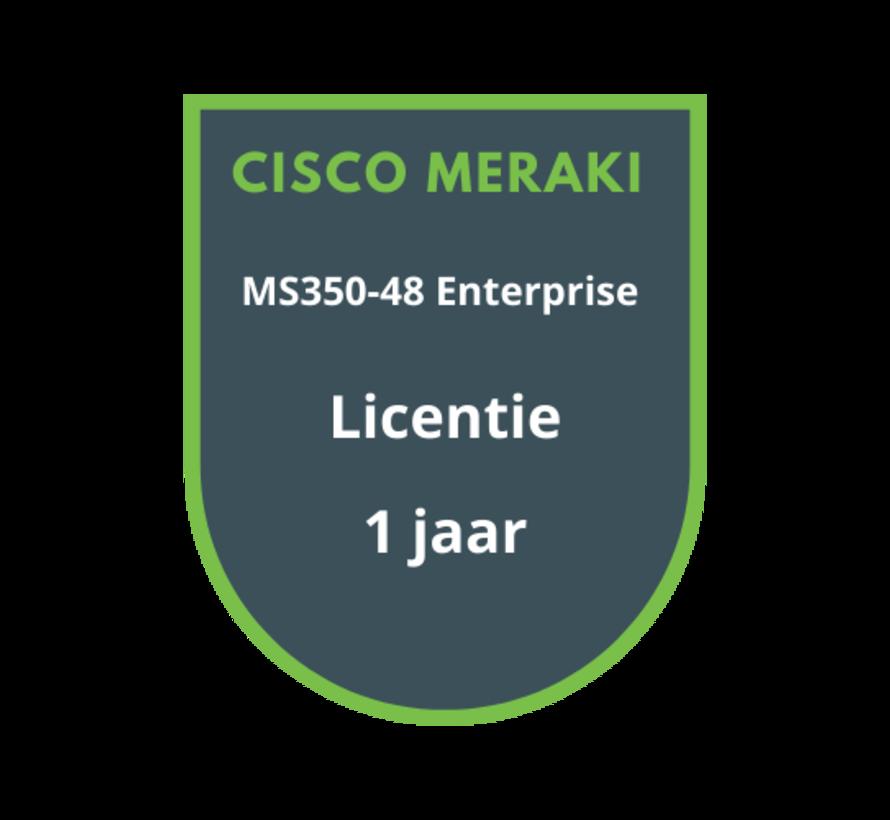 Cisco Meraki MS350-48 Enterprise Licentie 1 jaar