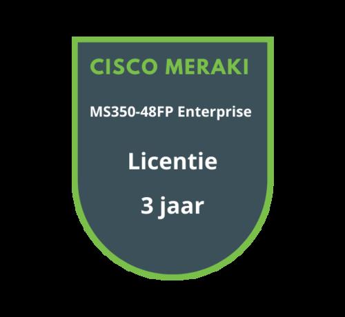 Cisco Meraki Cisco Meraki MS350-48FP Enterprise Licentie 3 jaar