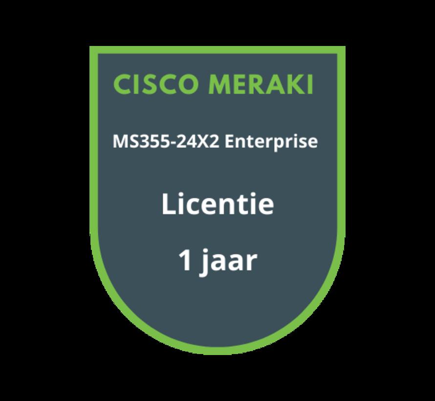 Cisco Meraki MS355-24X2 Enterprise Licentie 1 jaar
