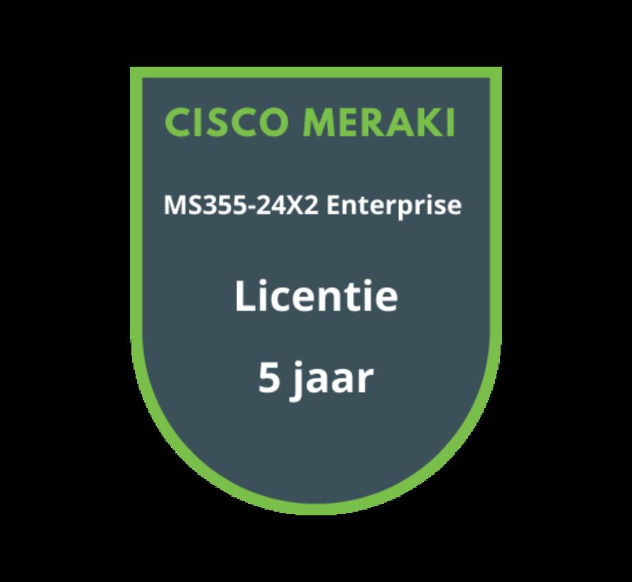 Cisco Meraki MS355-24X2 Enterprise Licentie 5 jaar