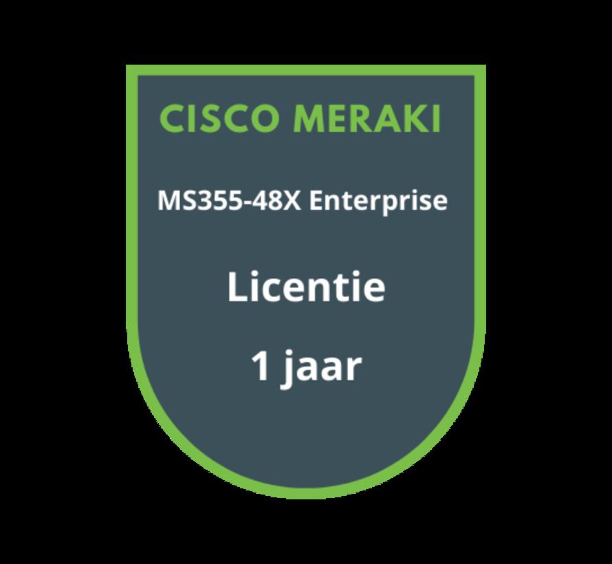 Cisco Meraki MS355-48X Enterprise Licentie 1 jaar
