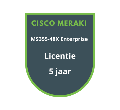 Cisco Meraki Cisco Meraki MS355-48X Enterprise Licentie 5 jaar