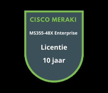 Cisco Meraki Cisco Meraki MS355-48X Enterprise Licentie 10 jaar