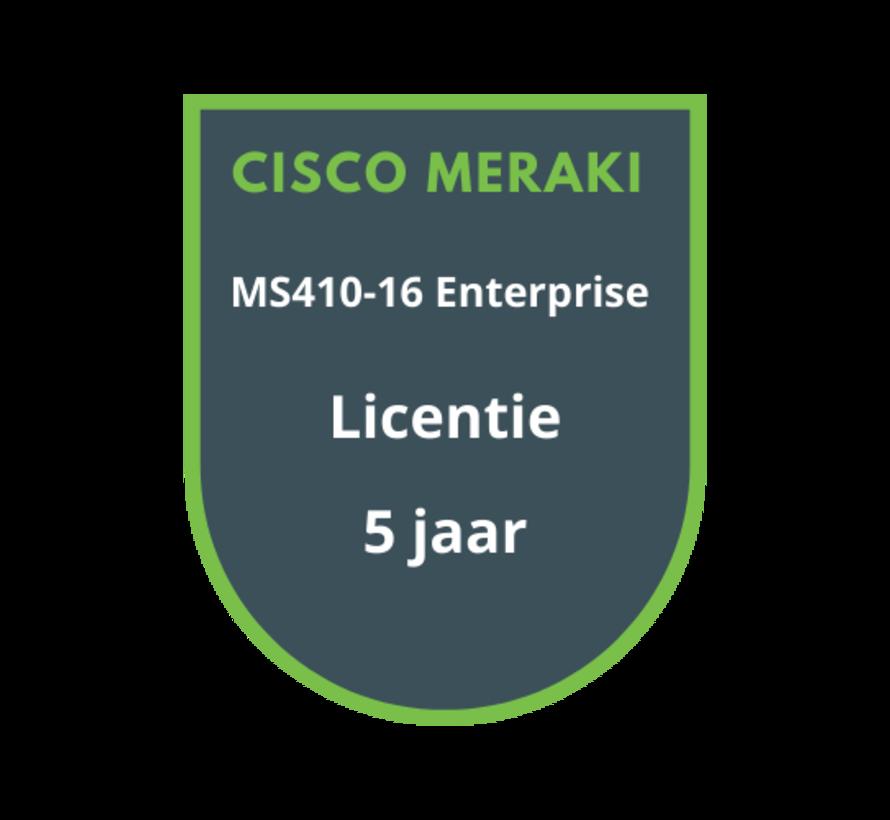Cisco Meraki MS410-16 Enterprise Licentie 5 jaar